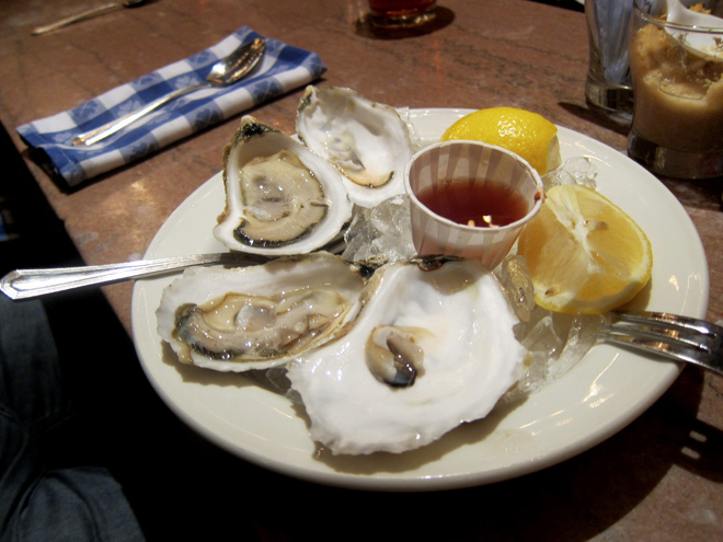 Oysters at the Grand Central Station Oyster bar